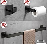economico -Set di accessori per il bagno / Porta rotolo di carta igienica / Appendi-accappatoio Nuovo design / Auto-adesivo / Creativo Moderno Acciaio inossidabile / Acciaio a basso tenore di carbonio / Metallo