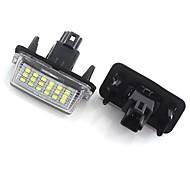 abordables -Lumière de plaque d'immatriculation de voiture otolampara spéciale pour toyota yaris / vitz / camry / corolla / prius / ractis / verso 6000k lumière de plaque d'immatriculation LED 2 pièces