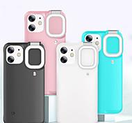 economico -telefono Custodia Per Apple Per retro iPhone 12 iPhone 11 iPhone 12 Pro Max iPhone 11 Pro iPhone 11 Pro Max iPhone 12 Pro Resistente agli urti A prova di sporco Con luce di riempimento Tinta unita PC