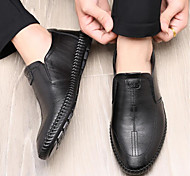 abordables -2020 automne nouveau cuir casual hommes chaussures pois chaussures tendance mode simple style hommes chaussures respirant confortable chaussures en cuir