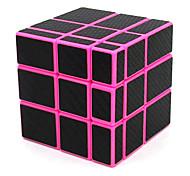abordables -miroir cube 3x3x3 cube magique 3x3 vitesse inégale cube autocollant en fibre de carbone puzzle jouets rose
