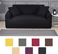 abordables -housse de canapé de couleur pure tissu extensible extensible super doux (vous obtiendrez 1 taie d'oreiller en cadeau gratuit)
