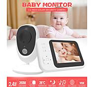 abordables -Moniteur de bébé numérique sans fil de 3,5 pouces Interphone bidirectionnel Salle de musique Moniteur de température Vision nocturne Zoom Expansion Head
