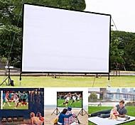 abordables -60 pouces projecteur simple rideau maison extérieur ktv bureau portable 3d hd écran de projecteur