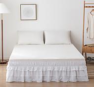 economico -basi increspate gonna da letto polvere volant avvolgere facile on / off e vestibilità antirughe e tinta unita resistente allo sbiadimento