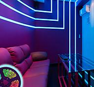 economico -strisce led impermeabili 5m 300 2835 8mm rgb tiktok luci flessibili e ir 44key telecomando collegabile autoadesivo che cambia colore