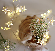 abordables -guirlande lumineuse led 5m 2m étoile fil de cuivre 20 50leds fée vacances bande flexible lumière pour noël mariage décoration de la maison éclairage aa batterie alimentation