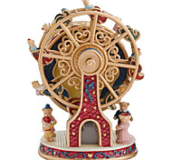 economico -Scatola musicale Rotating Ferris Wheel 1 pcs Regalo Decorazioni per la casa Resina Per Per bambini Per adulto Ragazzi e ragazze