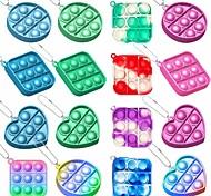 economico -1 pz pop bubble fidget toy, mini push pop con portachiavi, giocattolo sensoriale in silicone pluriball, autismo bisogni speciali antistress gioco di logica tattile per bambini, famiglia e amici