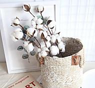 abordables -Décoration de bureau de fleurs de simulation de 10 branches mortes de coton 53cm