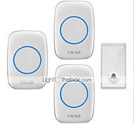 economico -campanello per casa senza fili campanello autoalimentato uno per tre senza campanello di apprendimento codice batteria impermeabile