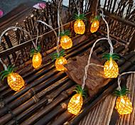 abordables -LED ananas fée guirlande lumineuse 1.5m 3m fruit ananas forme chaîne lumière batterie ou opération usb fête d'anniversaire de noël chambre d'enfants décoration de vacances à la maison