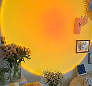 abordables -sunset night light projecteur tiktok sunset led lampe 360 degrés rotation sunset rainbow projection lampe romantique led lumière pour photo vidéo montage youtuber