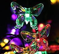 abordables -ensemble de guirlandes LED support de montage 20leds 30leds 50leds papillons blanc chaud blanc froid multi couleur jour de Thanksgiving fête de noël décorative 5m 6,5 m 7m
