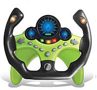 abordables -Jouet de volant de simulation d'éducation précoce pour enfants jouet de conduite de voiture de simulation haute multifonctionnelle avec musique et jouet de conduite léger pour garçons et filles