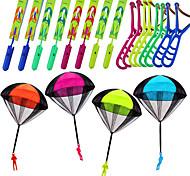 economico -16 pezzi di fionda elicottero con 4 pacchi giocattolo paracadute bomboniere per bambini giocattoli all'aperto giocattoli volanti aeroplani soldati paracadute lancio giocattolo