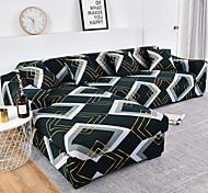 abordables -Housse de canapé élastique colorée simple nordique simple double housse de canapé pour trois personnes