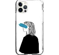 economico -pencil drawing girl case for apple iphone 12 11 se2020 design unico custodia protettiva antiurto cover tpu clear case for iphone 12 pro max xr xs max iphone 8 7