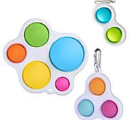 economico -3 pezzi semplici dimple fidget toy piccoli fidget toys push pop figet toys antistress per bambini adulti early educativi
