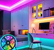 economico -luci a strisce principali 5m set di luci luci tiktok rgb 150 led 5050 telecomando smd rc dimmerabile dimmerabile 100-240 v collegabile adatto per veicoli ip44 che cambia colore autoadesivo