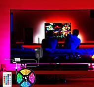economico -luci a strisce principali 5m set di luci flessibili luci tiktok rgb 300 led smd2835 8mm con telecomando a 24 tasti set adattatore di alimentazione 2a multi colore cuttable decorativo 12v
