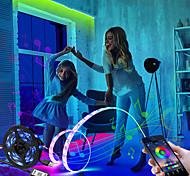 economico -luci di striscia led app music control set 5v led strip usb 5050 smd nastro flessibile rgb nastro led wifi ha condotto la luce di striscia tv retroilluminazione