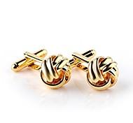 economico -gemelli nodo, regalo di nozze nautiche, regalo di San Valentino anniversario di compleanno, oro, argento, nero (oro)