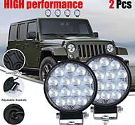 abordables -otolampara 2 pièces 140w 6000k circulaire ip67 projecteur étanche led lumière de travail ampoules de phare de voiture pour tout-terrain suv bateau 4x4 camion