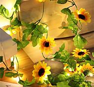 abordables -artificiel tournesol led chaîne lumière lierre vigne 2.2m 20leds pour la maison de noce chambre décor lampe bricolage éclairage suspendu 2pcs 1pc ensemble