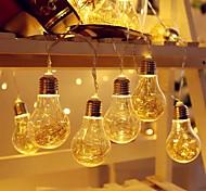 economico -3.5m Fili luminosi 10 LED EL 1Impostare la staffa di montaggio 1 set Bianco caldo Natale Capodanno Solare Ad energia solare