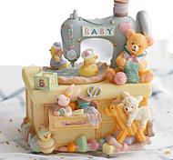 economico -carillon macchina da cucire animale per bambini mamma ragazze ragazzi baby donne decorazioni per la casa ornamento regalo di compleanno (giallo)