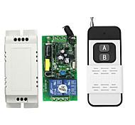 economico -interruttore relè ac220v 2ch / ricevitore codice di apprendimento relè 10a per luce / accensione led / 433 mhz