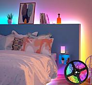 abordables -bandes lumineuses à led ensembles de lumière flexibles de 5 m lumières tiktok rvb 2835 smd télécommande rgb 8 mm rc découpable dimmable 100-240v liable auto-adhésive changeante de couleur ip44