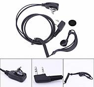 abordables -2 broches écouteur casque PTT mic 1 m crochet d'oreille talkie-walkie écouteur interphone écouteur écouteur pour baofeng uv5r / kenwood / hyt