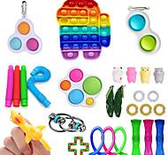 economico -28 pezzi set di giocattoli sensoriali fidget giocattoli antistress sollievo dall'ansia autismo stress pop bubble giocattolo sensoriale agitarsi per bambini adulti