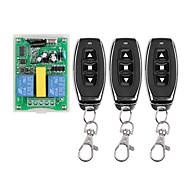economico -ac220v 2channal rf interruttore di comando a distanza senza fili uso per motore / tapparella / su stop down / 433 mhz