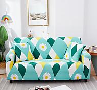 economico -fodera per divano elasticizzata anti-polvere onnipotente con stampa a rombi greenl tessuto super morbido con una custodia in omaggio