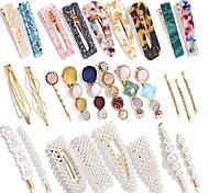 economico -set di forcine di perle set di accessori per capelli con combinazione di forcine in acetato acrilico transfrontaliero europeo e americano vendite dirette in fabbrica
