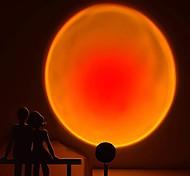 abordables -Lampe Projecteur Sunset Projecteur Coucher de Soleil Tiktok Youtuber Lumières arc-en-ciel Veilleuse 180 Degrés Rotatif Amovible Détachable Pratique Atmosphère Lampe Mode Commutation USB
