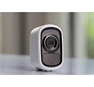 economico -Videocamera di sicurezza per interni / esterni 1080p wireless wifi ricaricabile a batteria videocamera domestica rilevamento del movimento per la visione notturna
