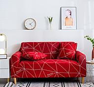 abordables -1 pc rouge foncé lignes blanches housse de canapé housse de canapé élastique au salon canapé pour animaux de compagnie housse de canapé inclinable housse de canapé