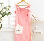abordables -Qualité supérieure Peignoir, Couleur unie Mélangé polyester / coton 1 pcs