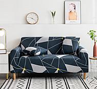 abordables -1 pc bleu marine foncé lignes blanches housse de canapé housse de canapé élastique au salon canapé pour animaux de compagnie housse de canapé inclinable housse de canapé