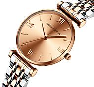 economico -orologio da polso con cinturino in acciaio inossidabile massiccio con movimento giapponese miyoda 2035, orologio da donna stellato in oro rosa argento