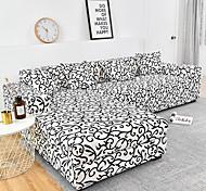 abordables -1 pc géométrique lignes noires housse de canapé housse de canapé élastique au salon canapé pour animaux de compagnie housse de protection inclinable housse de canapé