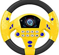 abordables -Volant de conduite simulé portable copilote jouet contrôleur de conduite simulé jouet de sondage éducatif pour enfants petit cadeau de jouet de volant (jaune noir)