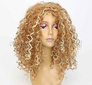 abordables -perruque bandeau perruque synthétique couleur mélangée longue petite perruques de cheveux bouclés perruques de cheveux longs bouclés