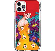 economico -flower woman case for apple iphone 12 11 se2020 design unico custodia protettiva antiurto cover tpu clear case for iphone 12 pro max xr xs max iphone 8 7