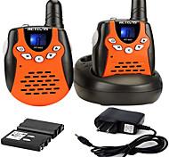 abordables -talkies-walkies rechargeables avec câble de charge, talkies-walkies vox 22 canaux pour enfants, jouets de 3 à 12 ans pour les aventures en plein air, camping (orange 2 pièces)