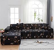 abordables -papillon floral noir anti-poussière tout-puissant extensible en forme de l housse de canapé en tissu super doux protecteur de meubles de canapé avec un étui boster gratuit